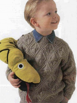 Пуловер для мальчика фантазийным узором